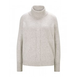 Cable-knit turtleneck pullover by Tom Tailor