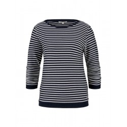 Sweat-shirt slim à rayures by Tom Tailor Denim