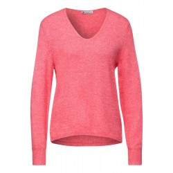 Cozy V-neck sweater by Street One