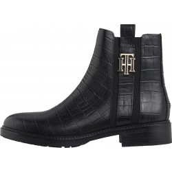Flat leather ankle boots by Tommy Hilfiger
