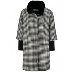 Short coat with dog-tooth check by Gerry Weber Collection