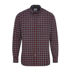 Regular fit: check shirt by Camel