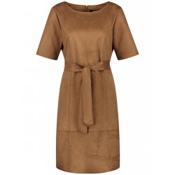 Dress with suede look by Taifun