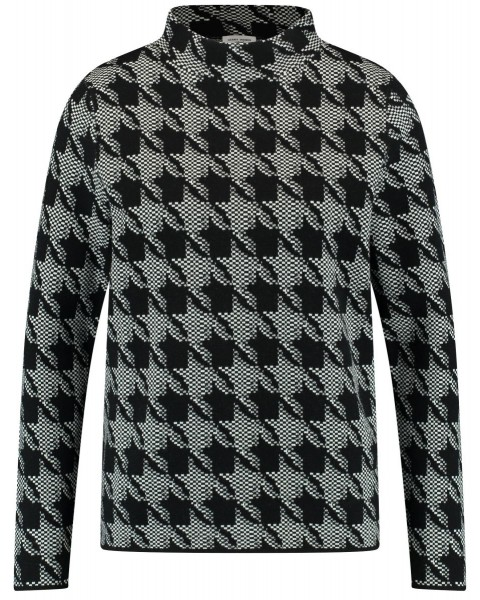 Sweater with houndstooth pattern by Gerry Weber Casual