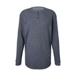 Strukturiertes Henley-Shirt by Tom Tailor Denim
