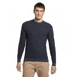 Sweater with structure pattern by Tom Tailor