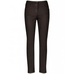 Trousers in coated cotton by Gerry Weber Collection