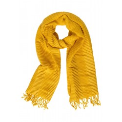 Pleated Stripe Scarf by Street One