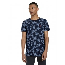 Print T-shirt with small logo by Tom Tailor Denim
