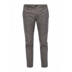 Regular Fit: trousers with woven structure by s.Oliver Red Label