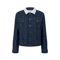 Denim jacket with teddy lining by Tom Tailor