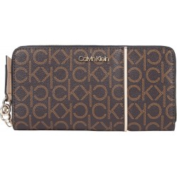 Zip wallet with logo print by Calvin Klein