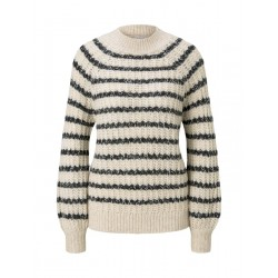 Sweater with stripe pattern by Tom Tailor Denim