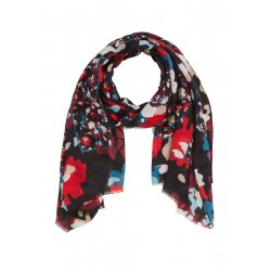 Scarf with print by comma CI