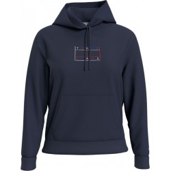 Relaxed Fit Hoodie with outline flag by Tommy Jeans
