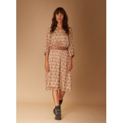Dress in printed voile by La Fée Maraboutée