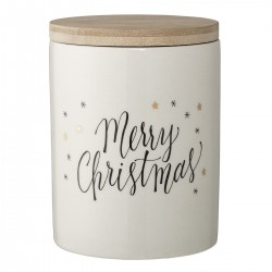 Stoneware pot - Merry Christmas by Bloomingville