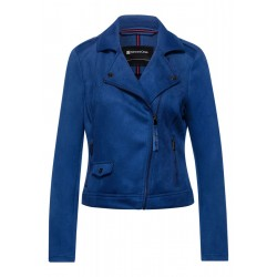 Faux Velours Biker Veste by Street One