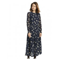 Ruffled midi dress with a floral print by Tom Tailor Denim