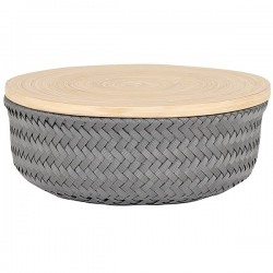 Basket WONDER with lid (Ø26x11cm) by Handed by