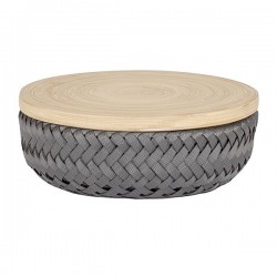 Basket WONDER with lid (Ø17x7cm) by Handed by