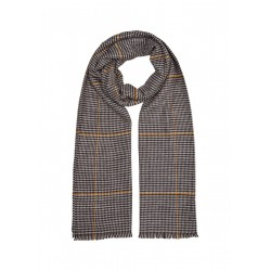 Twill scarf with woven checks by s.Oliver Red Label