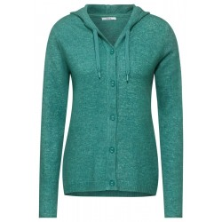 Buttoned Hoody Cardigan by Cecil