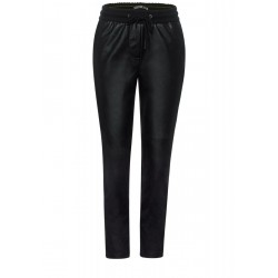 Loose Fit: Pants imitation leather by Cecil