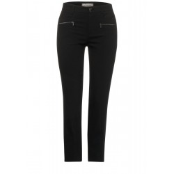 Slim Fit: high waist pants with stretch by Street One