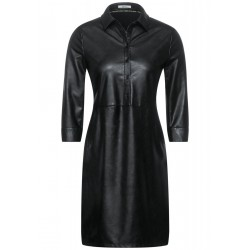 Fake Leather Dress by Cecil