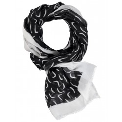 Contrast colored scarf with fringes by Gerry Weber Collection