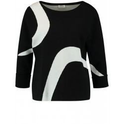 3/4 sleeve sweater in pure cotton by Gerry Weber Collection