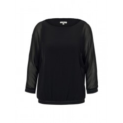 Chiffon blouse with bat sleeves by Tom Tailor