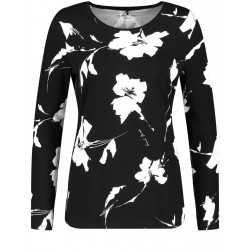 Long sleeve shirt with flower pattern by Gerry Weber Casual