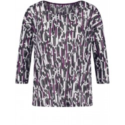 3/4 sleeve shirt with graphic pattern by Gerry Weber Casual