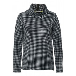 Jacquard shirt with collar by Cecil