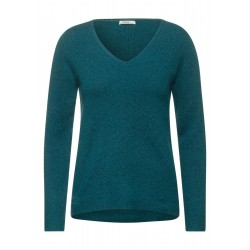 Cosy V-Neck Pullover by Cecil
