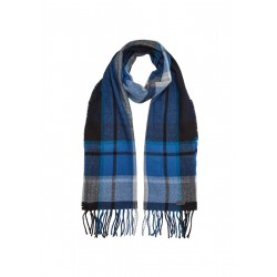 Plaid scarf with leather patch by s.Oliver Red Label