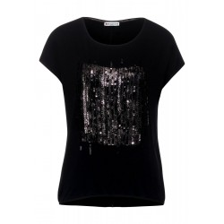 T-Shirt with sequins by Street One