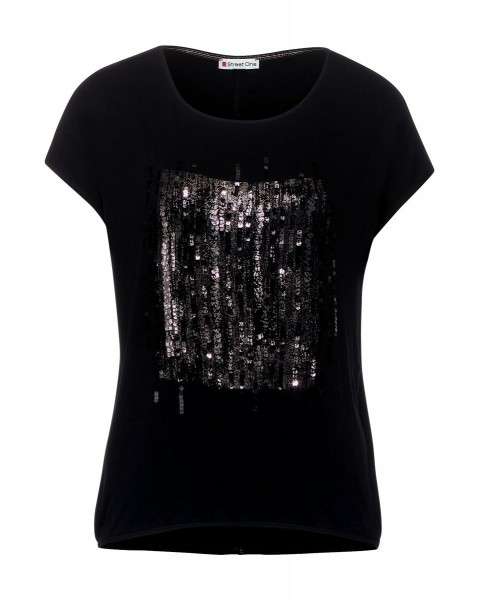 T-shirt à paillettes by Street One