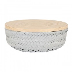 Basket WONDER with lid (Ø21x8cm) by Handed by