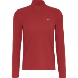 Ribbed pullover with mock roll collar by Tommy Jeans