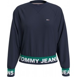 Relaxed Fit Sweatshirt with logo pattern by Tommy Hilfiger