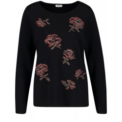 Sweater with flower embroidery by Gerry Weber Casual
