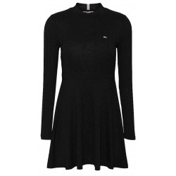 Geripptes Fit-and-Flare Kleid by Tommy Jeans