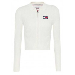 Figure-hugging pullover with zipper by Tommy Jeans