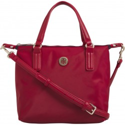 Small tote bag with monogram emblem by Tommy Hilfiger