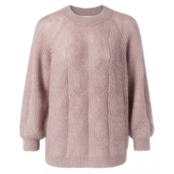 Pointelle knitted sweater by Yaya
