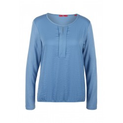 Crinkle shirt with pleated detail by s.Oliver Red Label
