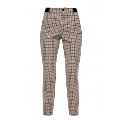 Slim Fit: Slim ankle leg check pants by s.Oliver Red Label
